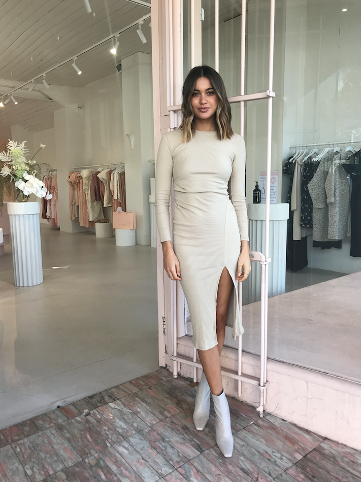 By Nicola Cerelia Midi Dress in Almond
