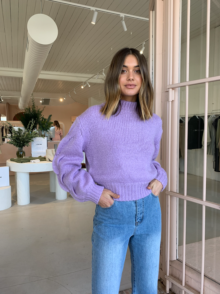 Bec & Bridge Celeste Knit Jumper in Orchid
