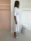 Third Firm Move On Midi Dress in White