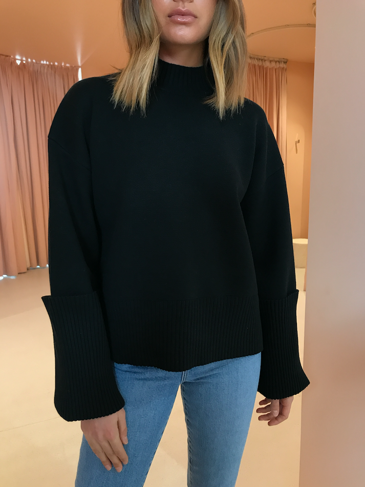 Camilla and Marc Jovanna Knit Top in Black