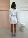 Third Form Move On LS Mini Dress in Off White