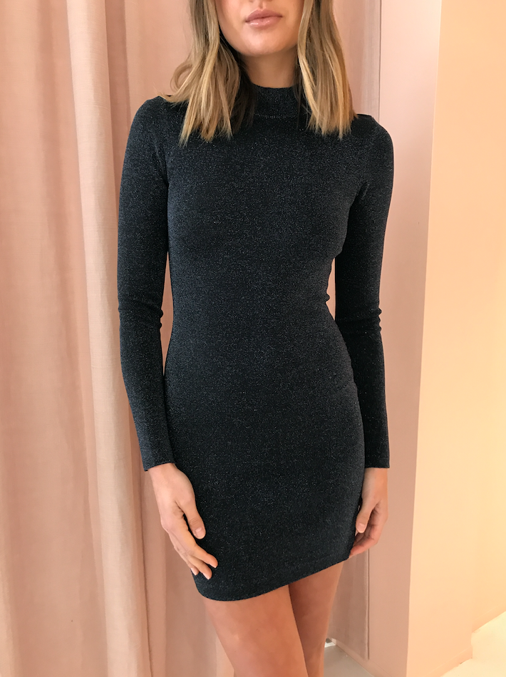 Bec & Bridge Electric Avenue L/S Mini Dress in Midnight