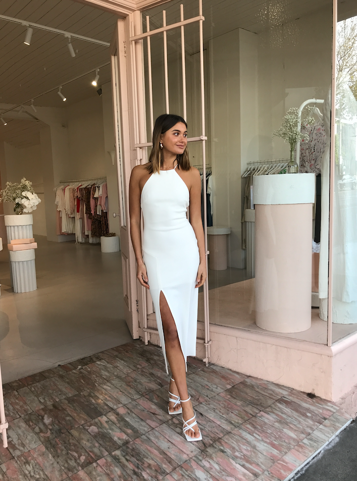 Bec & Bridge Candy Midi Dress in Ivory