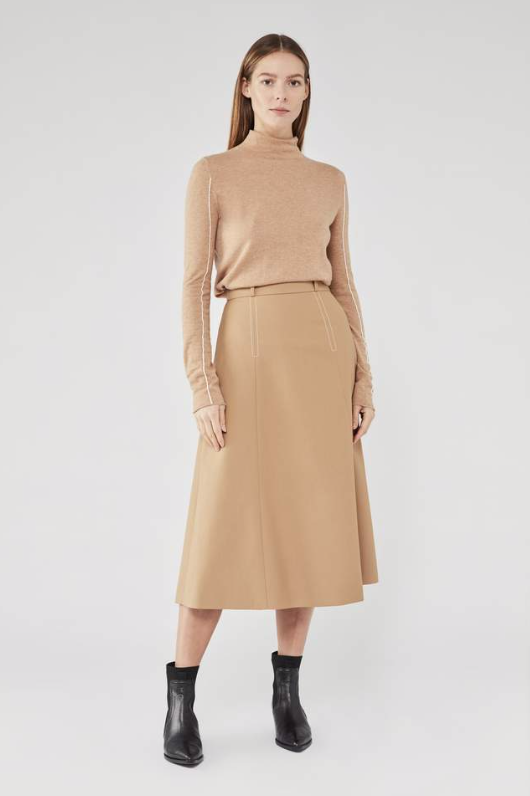 Camilla and Marc Huxley Fitted Turtleneck in Camel