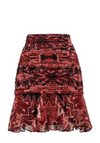 Thurley North Star Skirt in Pink and Black Marjorelle Paisley