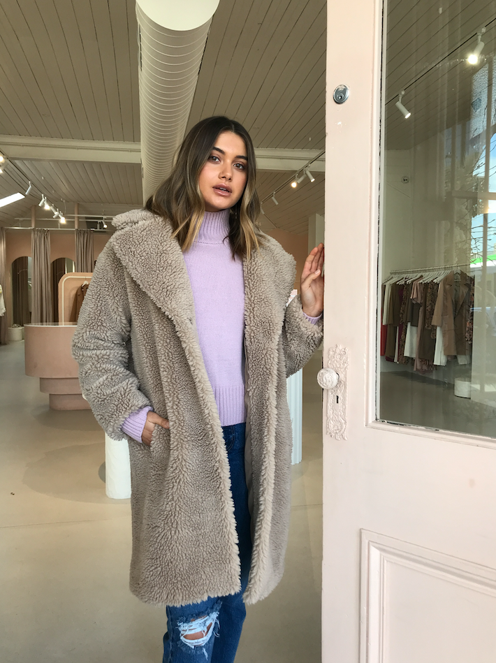 Friends with Frank The Harriet Coat in Oatmeal