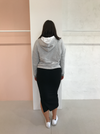 Viktoria and Woods Anniversary Hoodie in Grey Marle/Ivory