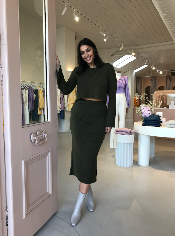 By Nicola Celestial Skirt in Khaki