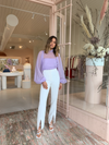Camilla and Marc Lona Gathered Blouse in Lilac