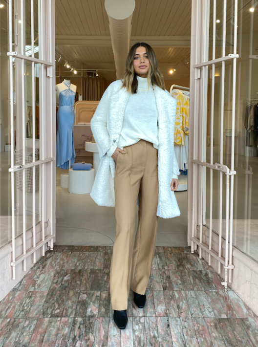Viktoria and Woods Bramwell Pant in Almond