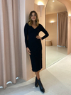 By Nicola Eva L/S Midi Dress in Black