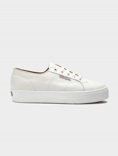 Superga 2730 Cotu Nappa Leather Sneaker in White