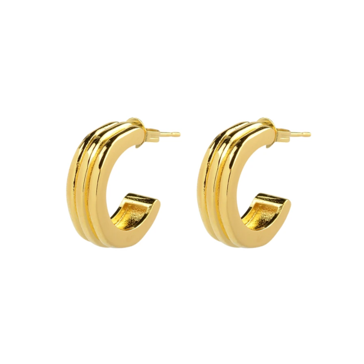 Brie Leon Ranura Large Earrings in Gold