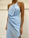 One Fell Swoop Harlequin Dress in Arctic Blue