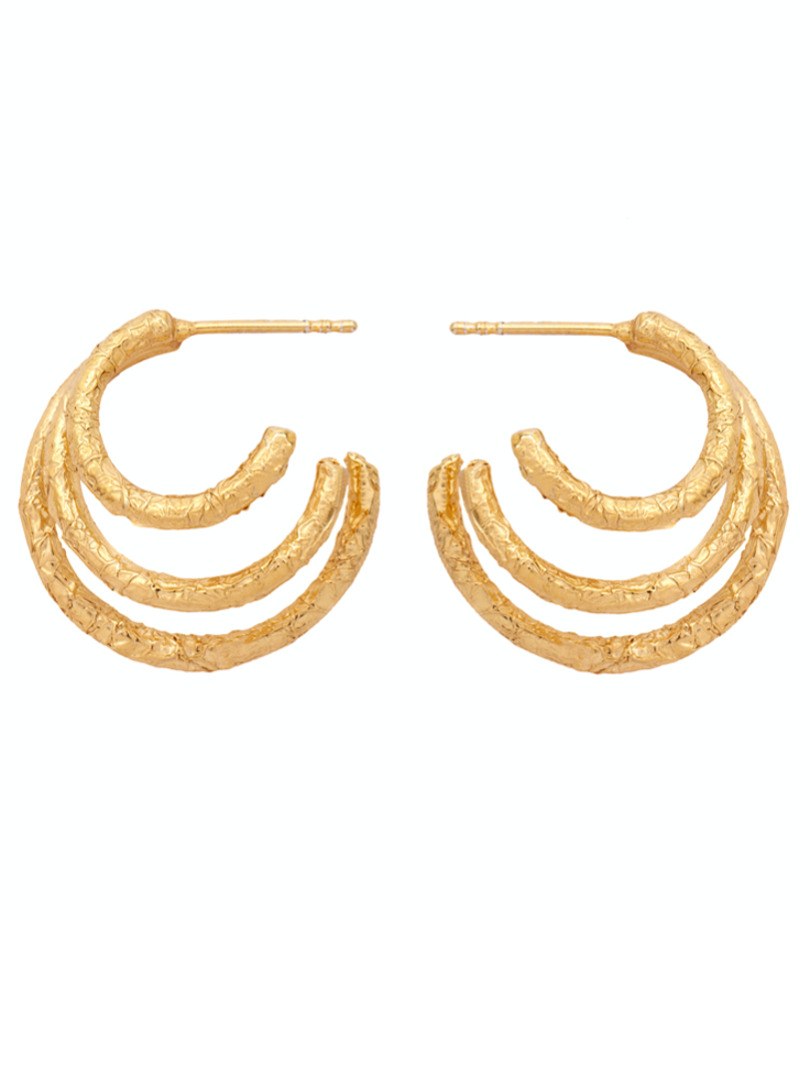 Amber Sceats Talia Earrings in Gold