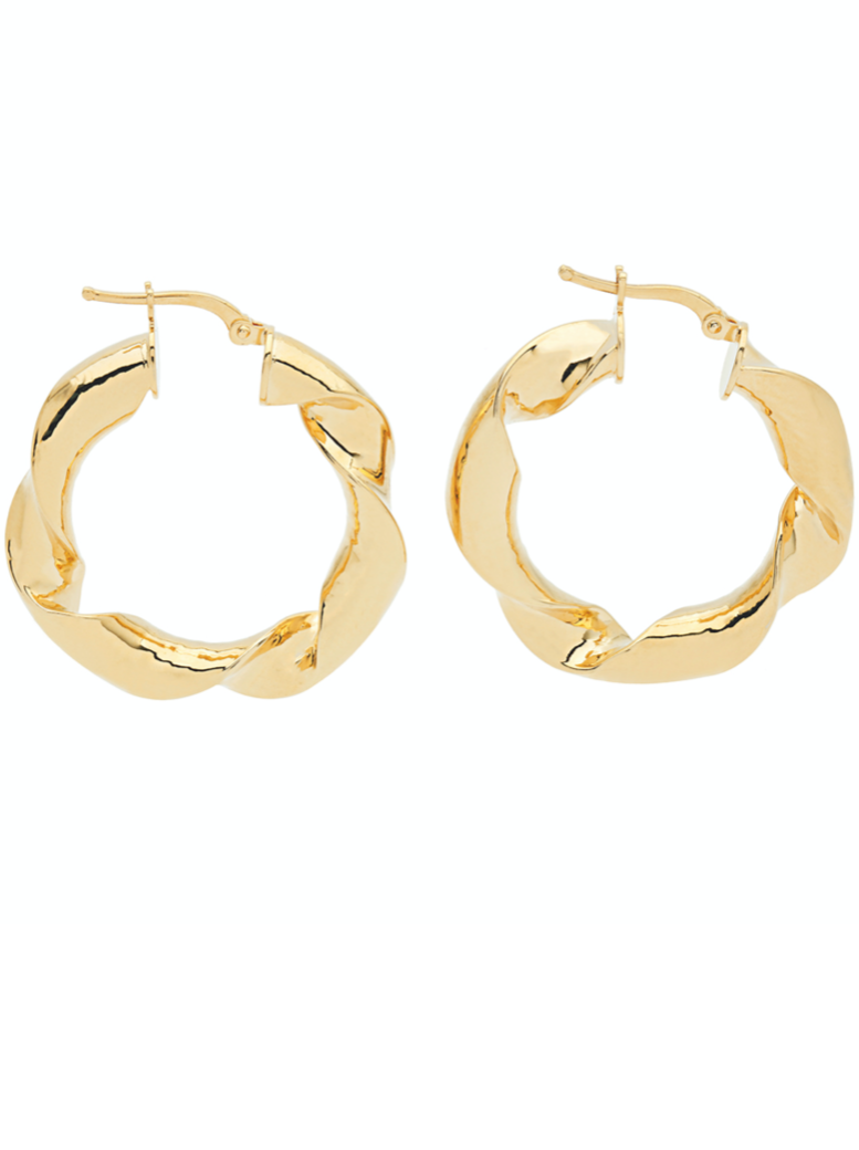 Amber Sceats Aston Earrings in Gold