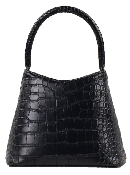 Brie Leon Mini Chloe Bag in Black Matte Croc