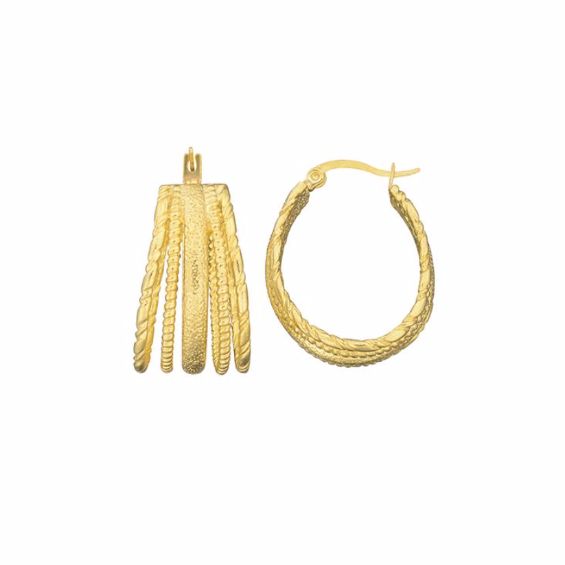 Brie Leon Multi Swing Earrings in Gold