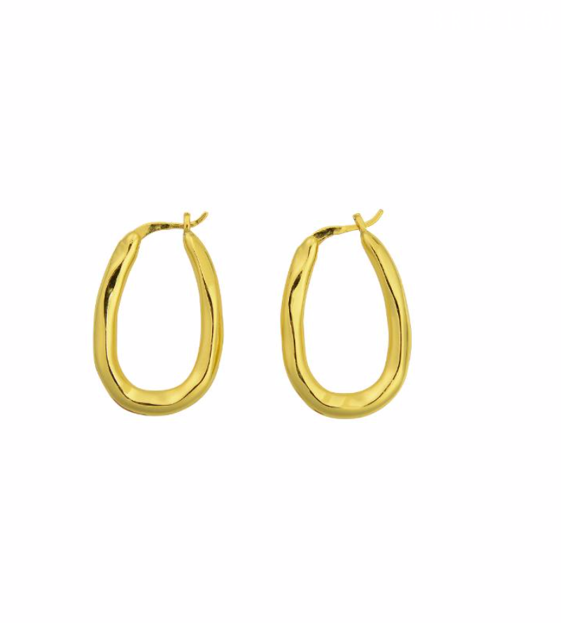 Brie Leon Organica Bent Hoops in Gold