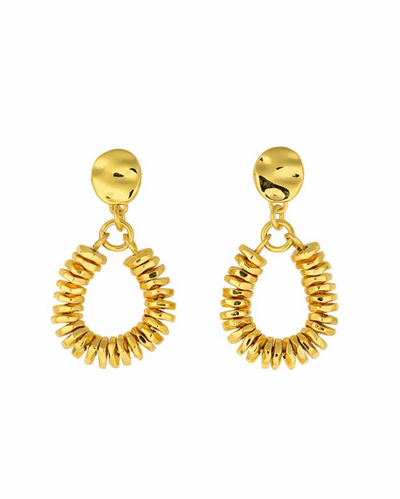 Brie Leon Valarie Drop Studs in Gold