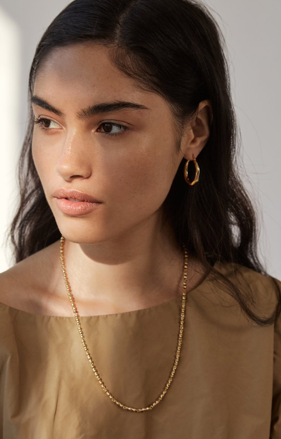 Brie Leon Organica Hoops Small in Gold