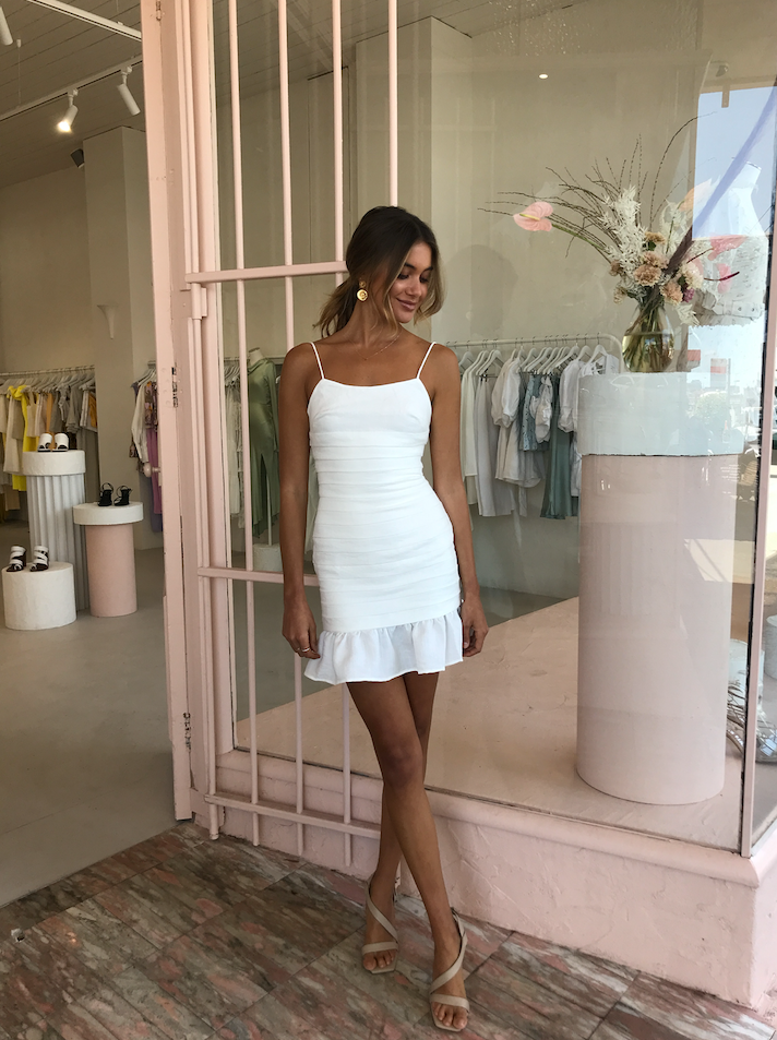 Carver Amoureaux Dress in White