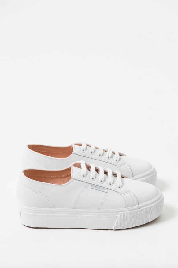 Superga x Coco 2790 Nappa Leather Sneaker in Optical White
