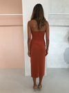 Bec & Bridge Ruby Midi Dress in Rust