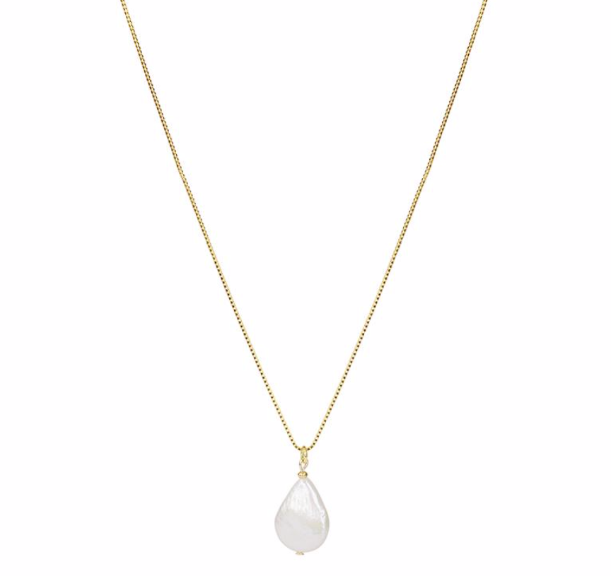 Brie Leon 925 Fresh Pearl Pendant in Silver Plated