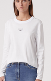 C&M Agnes Long Sleeve Tee in White