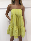 C&M Pollino Stripe Dress in Chartreuse Stripe