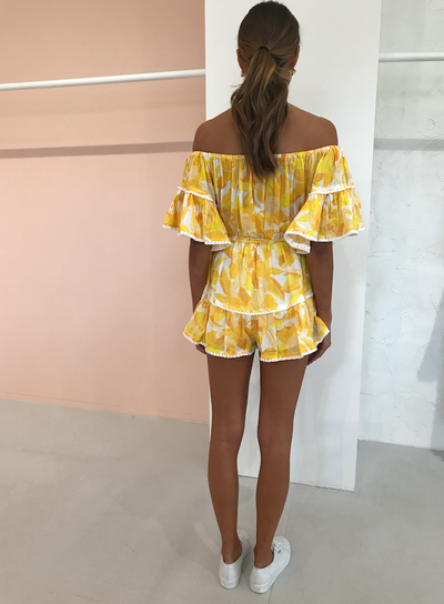 Significant Other Isla Romper in Golden Floral