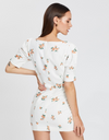 Bec & Bridge Peachy Mini Dress in Orange Floral
