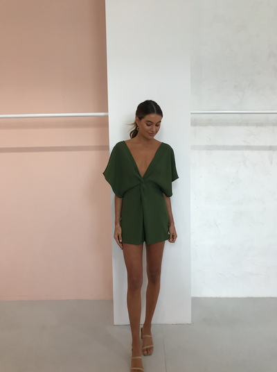 One Fell Swoop Provence Playsuit in Herb