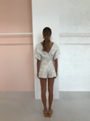 One Fell Swoop Provence Playsuit in Embroidered Linen
