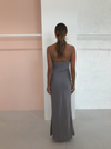 Olive and Ivy Cowl Maxi Dress in Deep Smoke