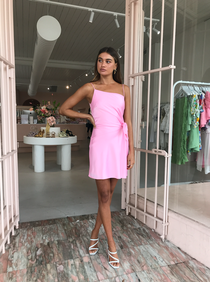 By Nicola Blooms Mini Dress in Pink Sherbet
