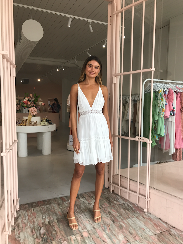 Magali Pascal Camille Mini Dress in Off White
