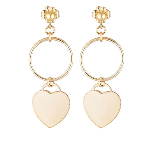 Elvis et Moi Amour Earrings in Gold
