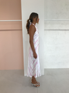Issy Lemonade Midi Dress in Pink Tie Dye