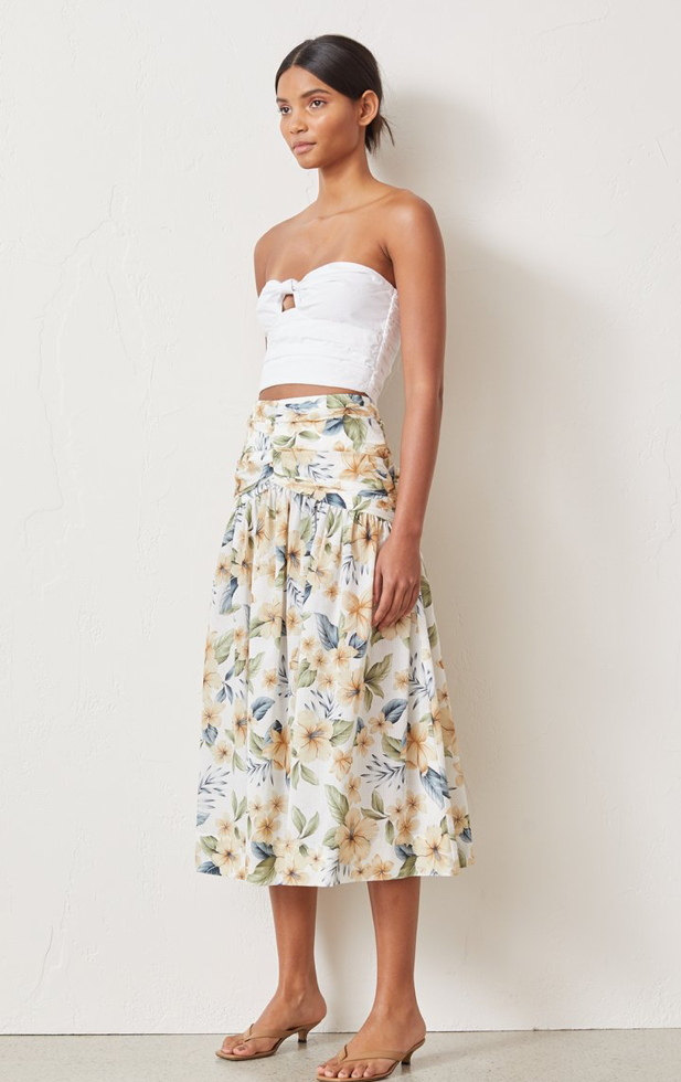 Bec & Bridge Fleurette Midi Skirt in Print