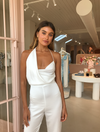 One Fell Swoop Muse Jumpsuit in White on White