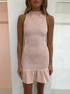 By Nicola Mon Amie Mini Dress in Coral Check