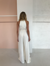 Shona Joy Lautner High Neck Jumpsuit in Cream