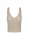 Hansen & Gretel Dee Crochet Crop Top in Gold