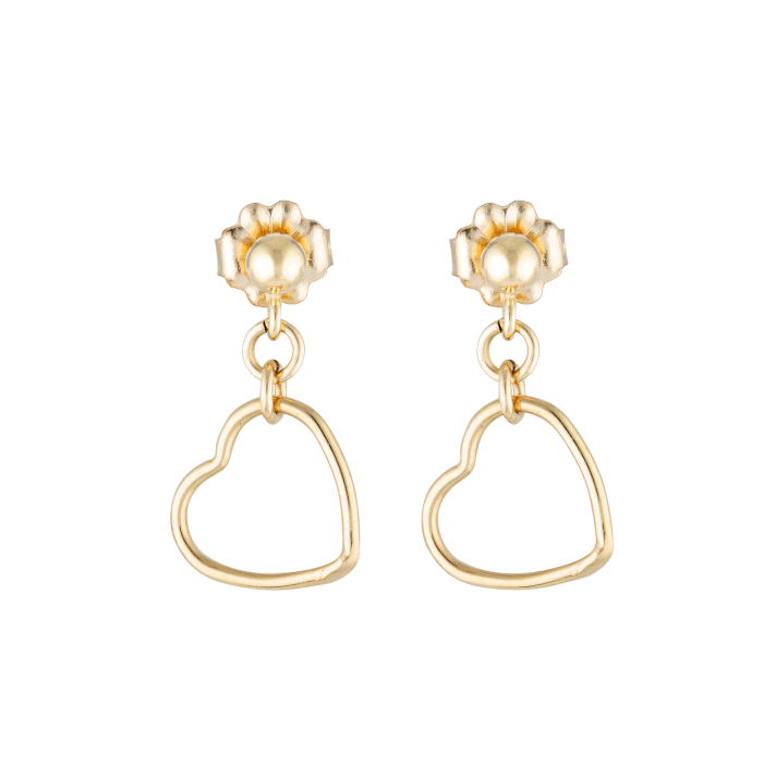 Elvis et Moi Mini Stud Heart Earrings in Gold