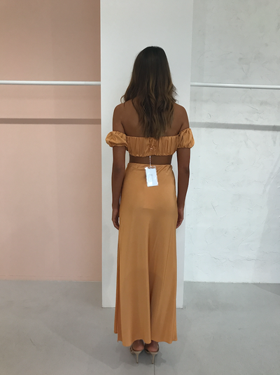 Third Form Romancer Bias Maxi Skirt in Honey
