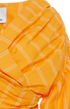 Acler Wyatt Blouse in Pumpkin Stripe