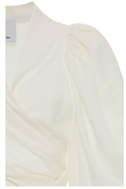 Acler Corsica Wrap Top in Ivory