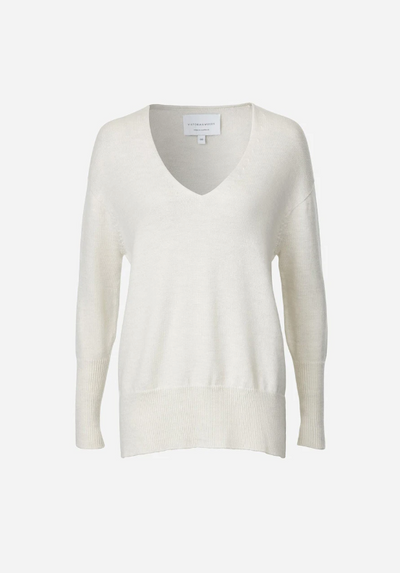 Viktoria and Woods Stockholm V Knit in Ivory Marl